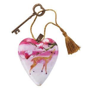 Floral Deer Art Heart 1003480019 NEW